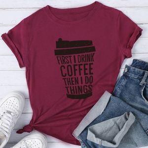 COFFEE LOVERS graphic tee - wine